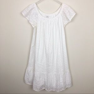 Crown & ivy white lace dress